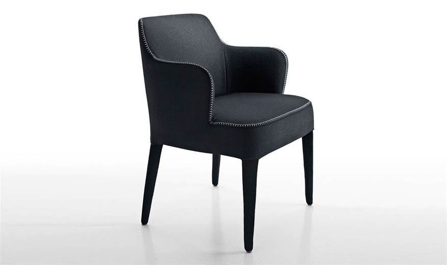 Contemporary Chair – Febo '15 – Maxalto – Fabric / Leather Pertaining To Antonio Light Gray Leather Sofas (View 2 of 15)