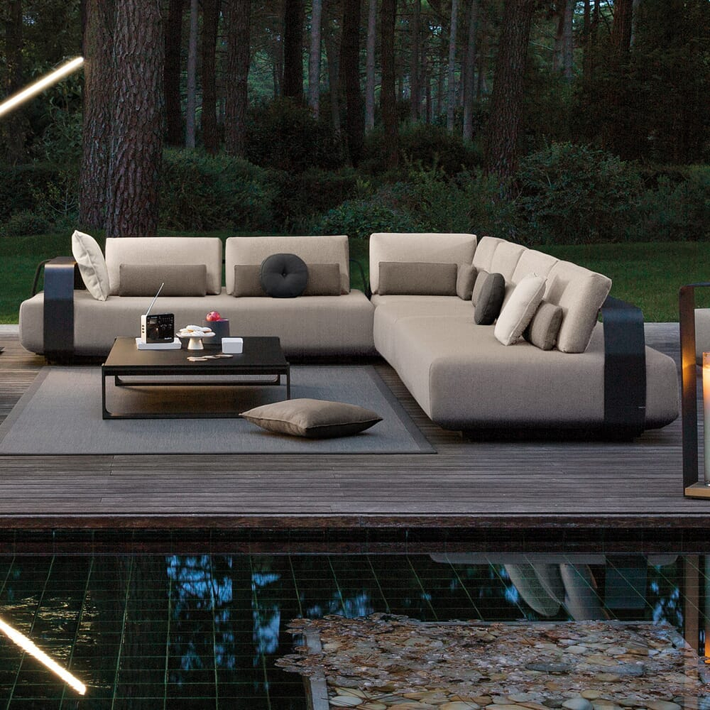 Contemporary Outdoor Designer Luxury Modular L Shaped Sofa With Regard To Contemporary Sofas And Chairs (View 8 of 15)