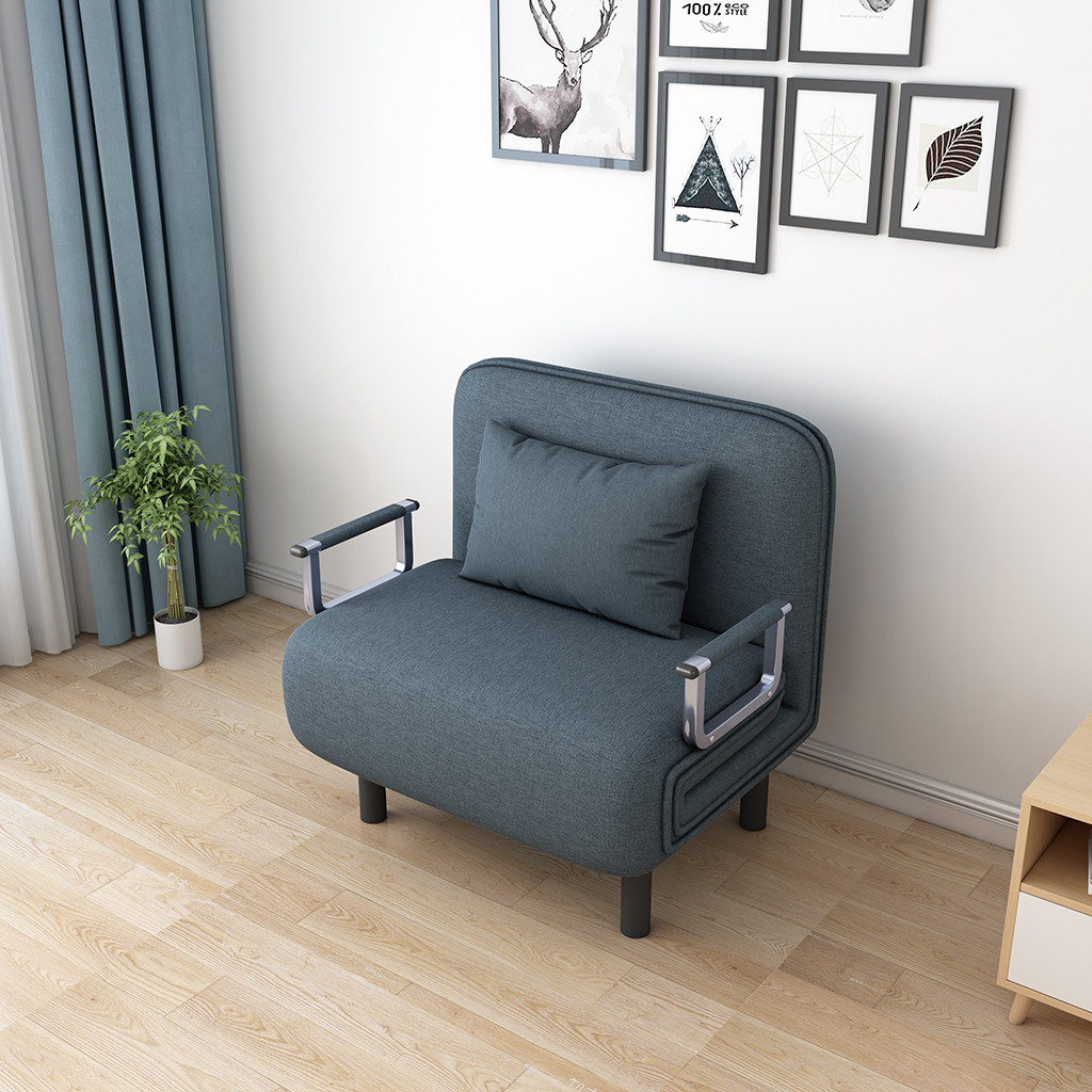 Convertible Sofa Bed Folding Arm Chair Sleeper Leisure Inside Sofa Lounge Chairs (View 7 of 15)