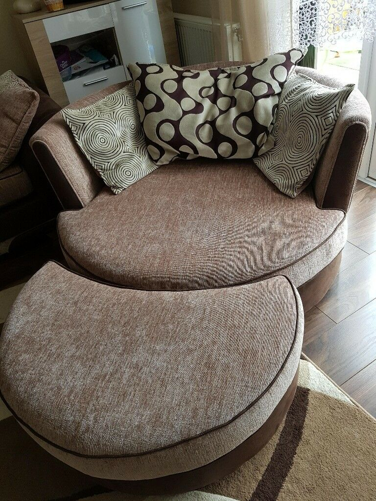 Corner Sofa And Swivel Chair   In Doncaster, South With Swivel Sofa Chairs (View 8 of 15)