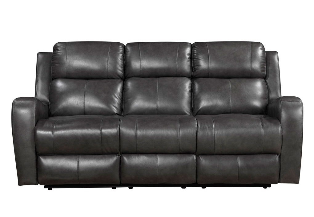 Cortana Power Reclining Sofa (Grey) Leather Italia In Pacifica Gray Power Reclining Sofas (View 13 of 15)