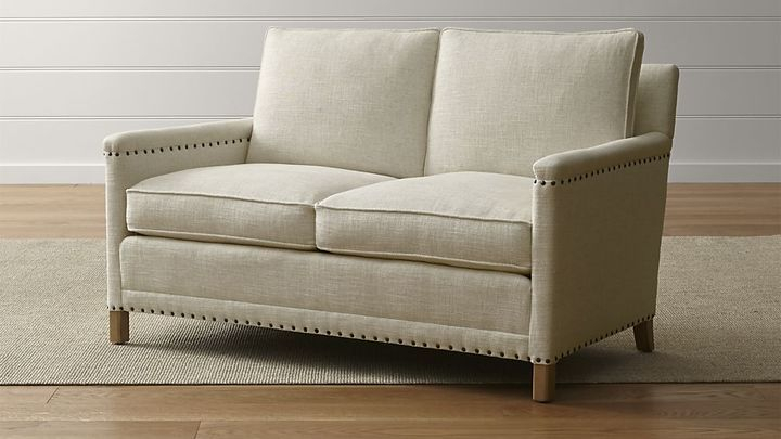 Crate & Barrel Trevor Loveseat – Shopstyle Living Room With Regard To Trevor Sofas (View 8 of 15)