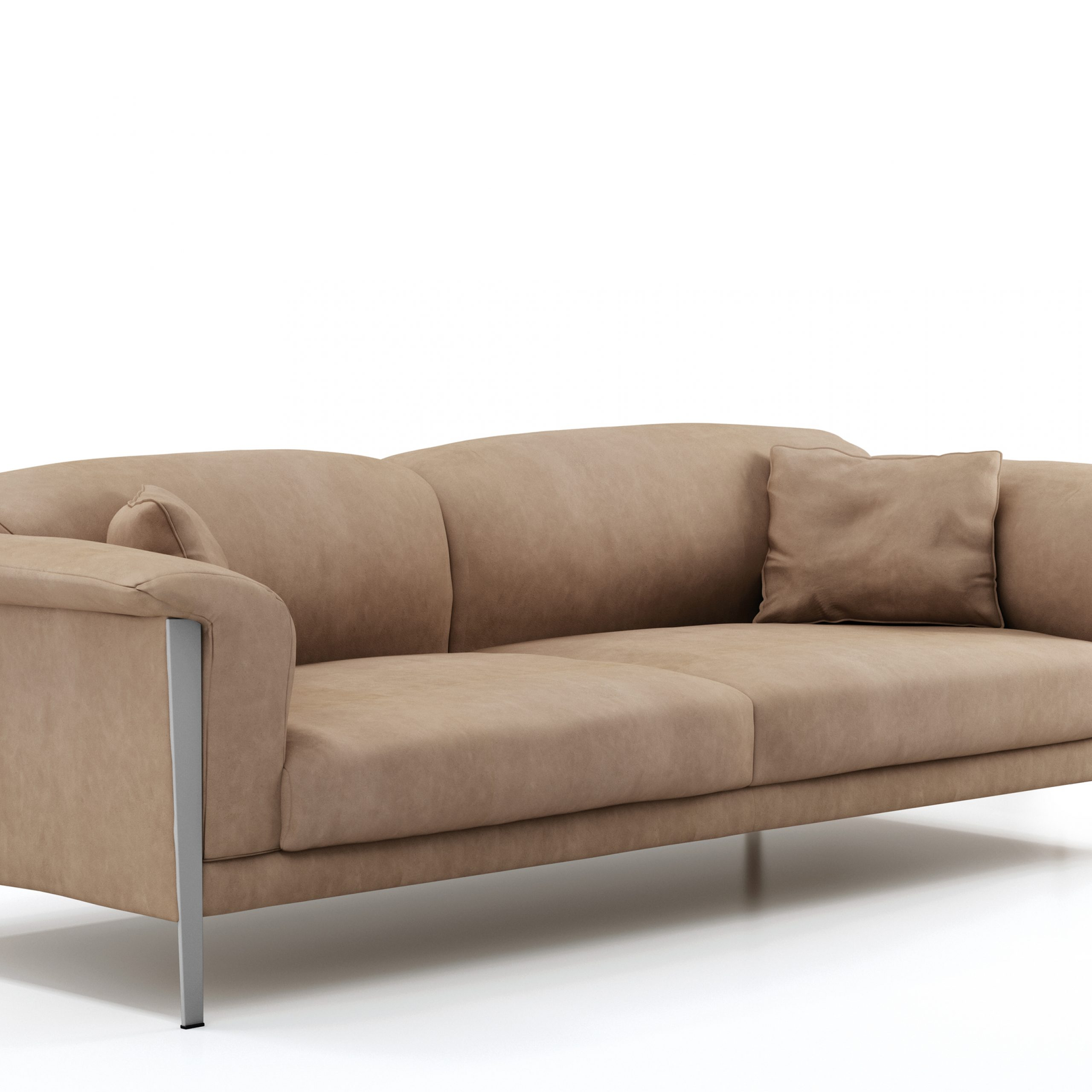 Cream Color Extra Soft Padded Leather Sofa Set Sacramento Intended For Cream Colored Sofas (View 11 of 15)