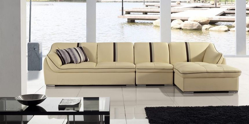 Cream Colored Sectional Sofa Photo Gallery Of Cream Throughout Cream Colored Sofas (View 7 of 15)