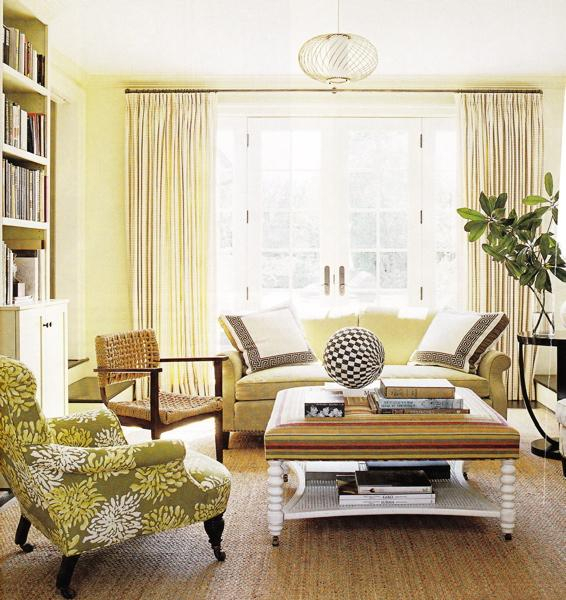 Cream Living Room Walls Design Ideas For 4Pc French Seamed Sectional Sofas Oblong Mustard (View 13 of 15)