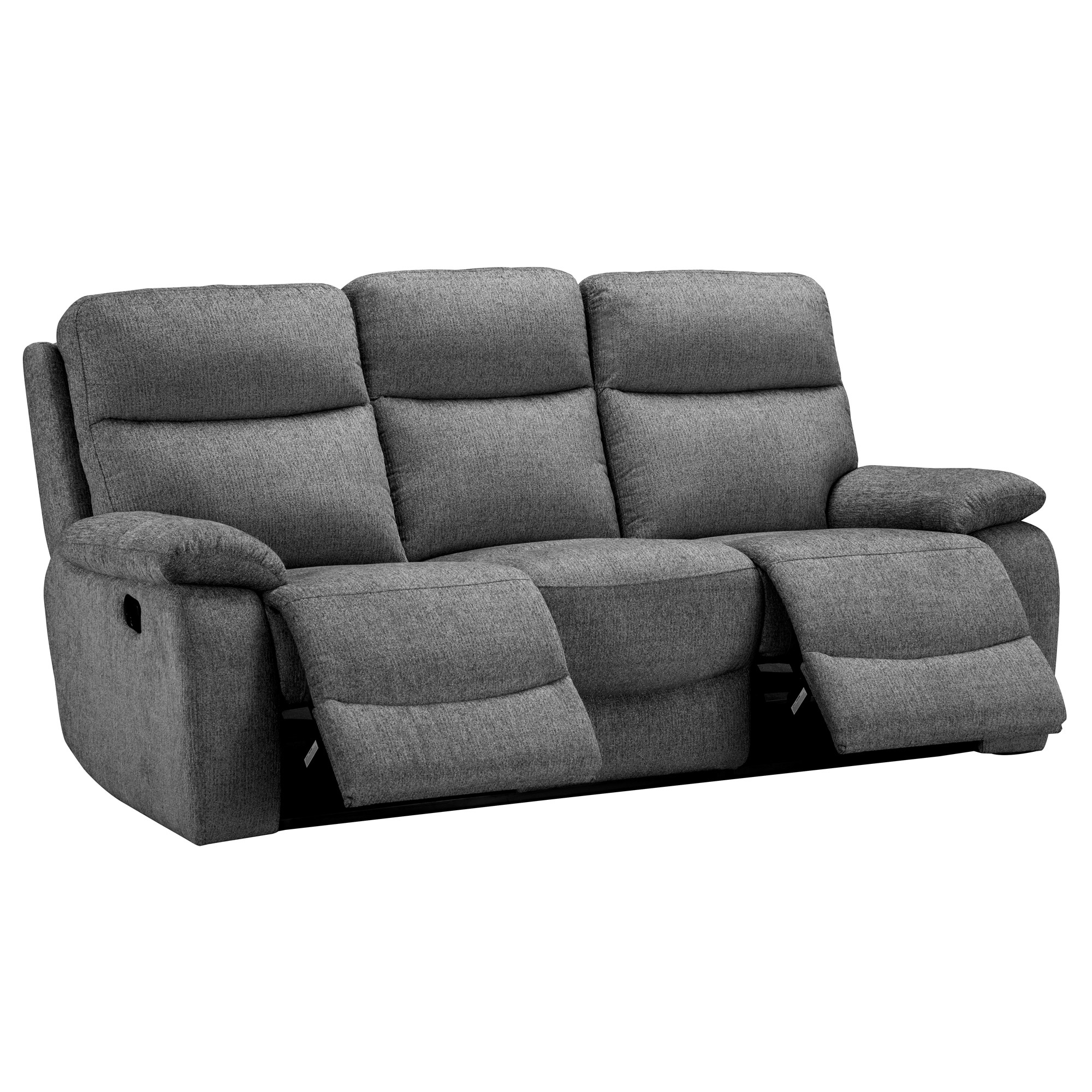 Crompton Grey Fabric 2 & 3 Seater Recliner Sofa Group With Regard To Fabric Sofas (View 8 of 15)