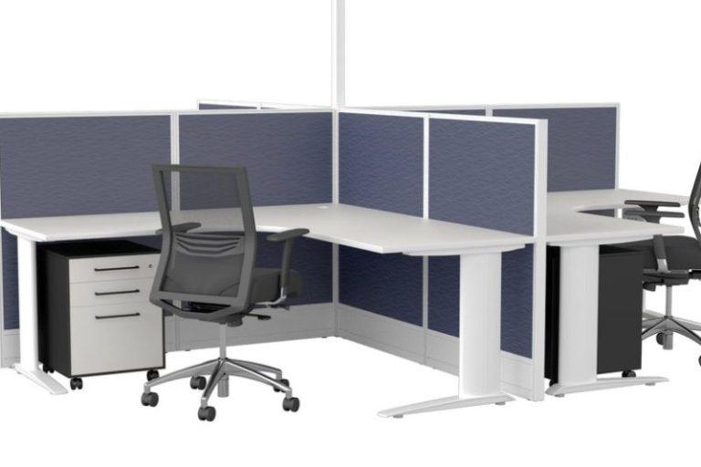 Cubit 50 Workstation Screen Power Pole Symmetry Desk Nexus Throughout Symmetry Fabric Power Reclining Sofas (View 11 of 15)