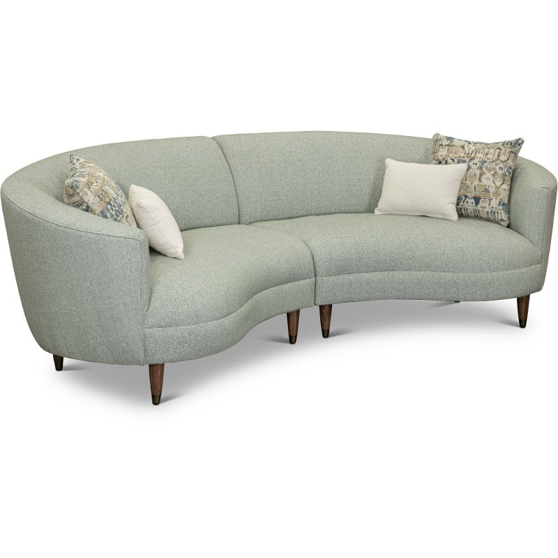 Curved Conversation Sectional Sofa Are Leather With Regard To French Seamed Sectional Sofas Oblong Mustard (View 8 of 15)