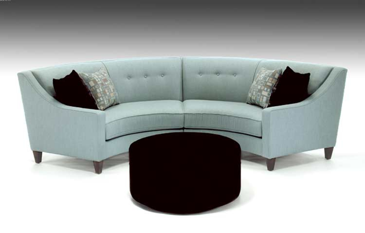 Curved Custom Fabric Sectional Sofa Avelle 531   Custom Sofas For Custom Made Sectional Sofas (View 14 of 15)