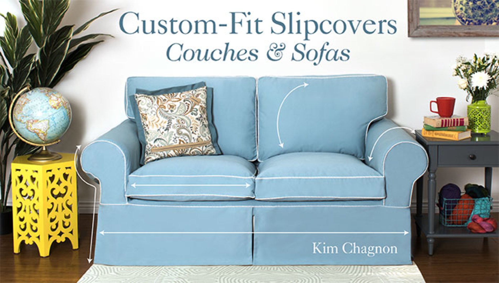 Custom Fit Slipcovers: Couches & Sofas   Craftsy Inside Customized Sofas (View 9 of 15)