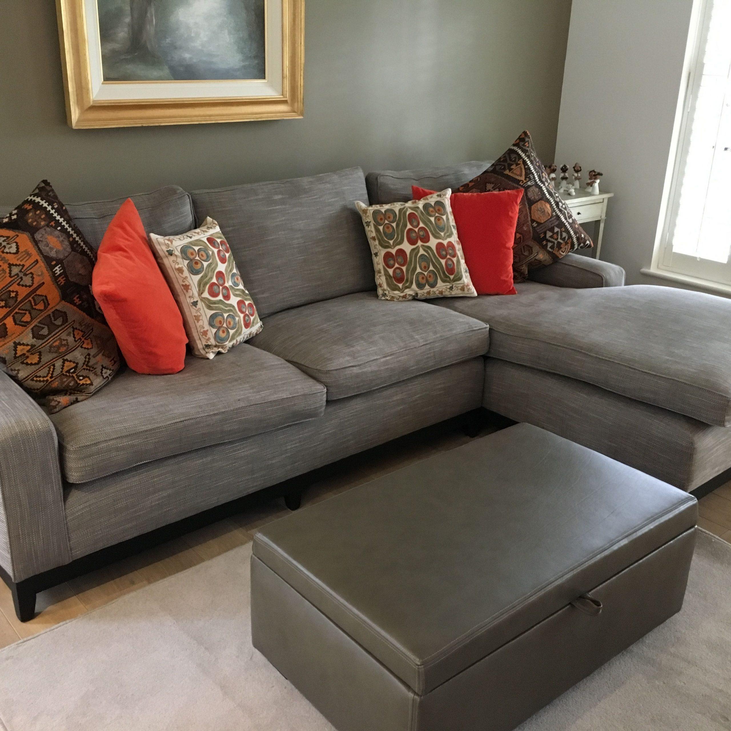 Custom Made L Shape Sofa Upholstered In Gp & J Baker In Custom Made Sectional Sofas (View 6 of 15)