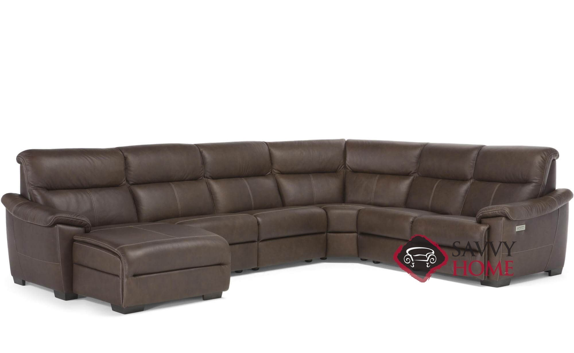 Customizable Power Reclining Sectional Sofa | Taraba Home Throughout Titan Leather Power Reclining Sofas (View 6 of 15)