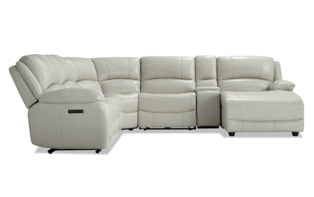 Customizable Power Reclining Sectional Sofa | Taraba Home Throughout Titan Leather Power Reclining Sofas (View 4 of 15)