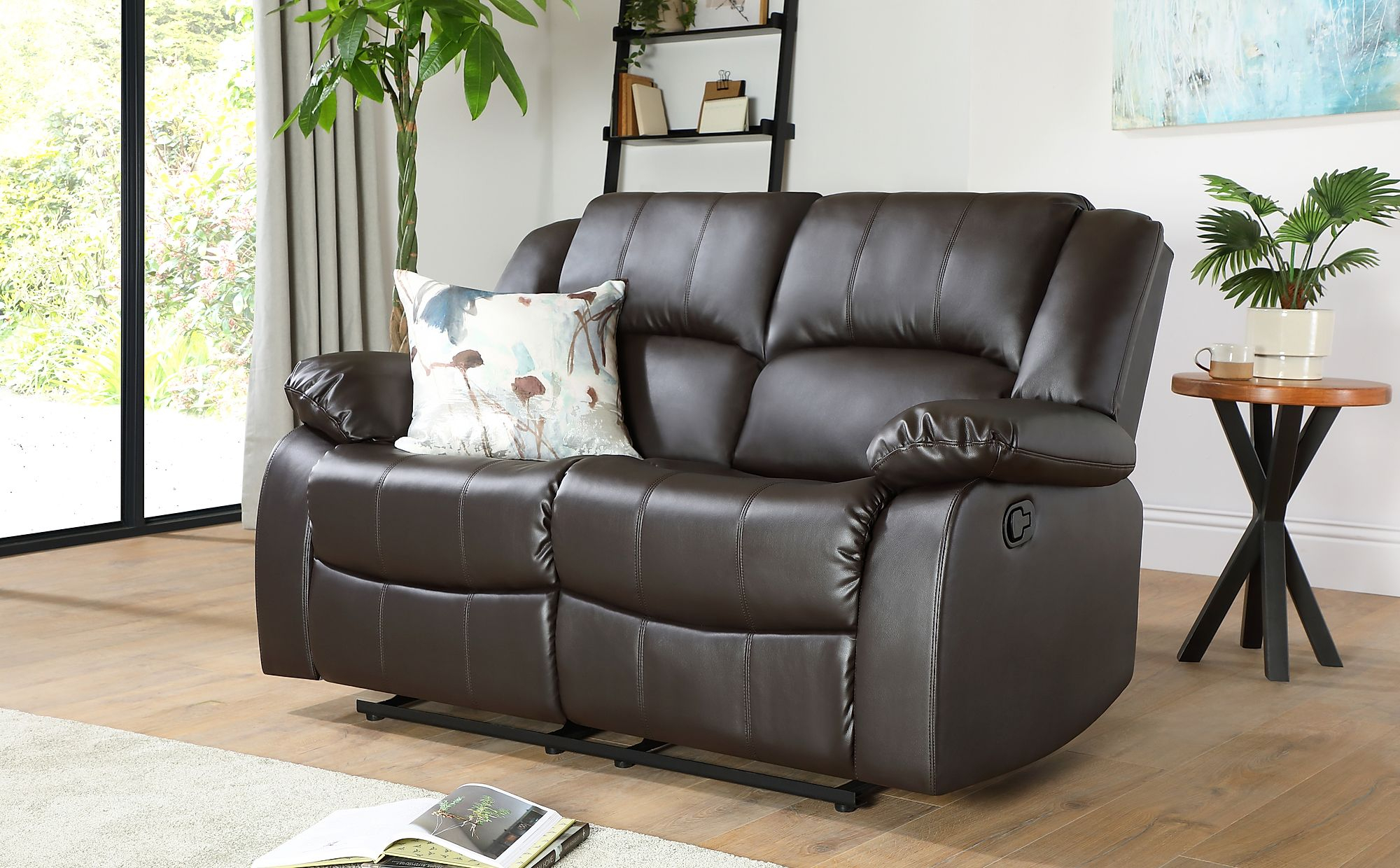 Dakota Brown Leather 2 Seater Recliner Sofa | Furniture Choice For Two Seater Sofas (View 12 of 15)