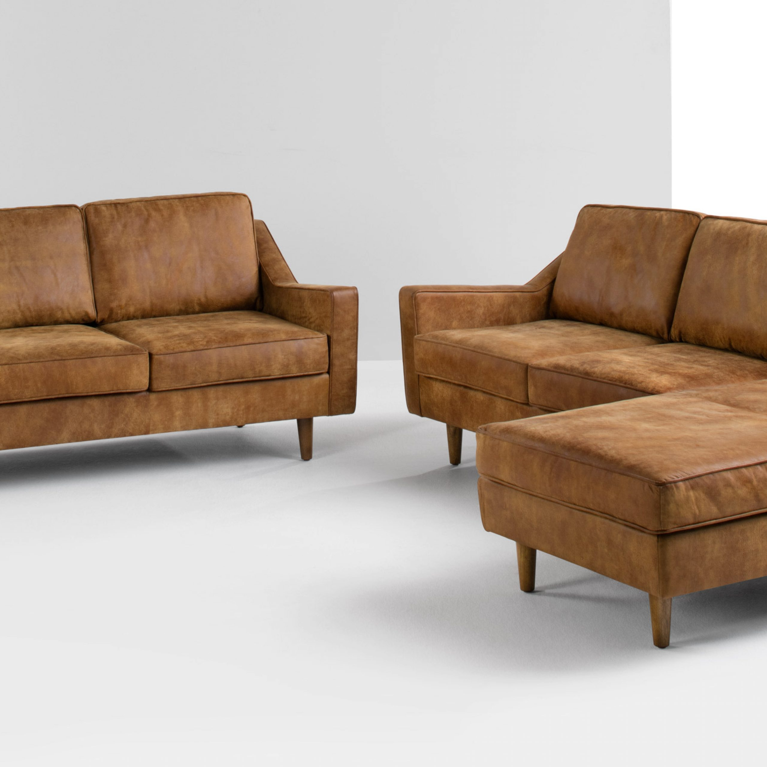 Dallas 2 Seater Sofa, Outback Tan Premium Leather   Made For 2 Seater Sofas (View 8 of 15)