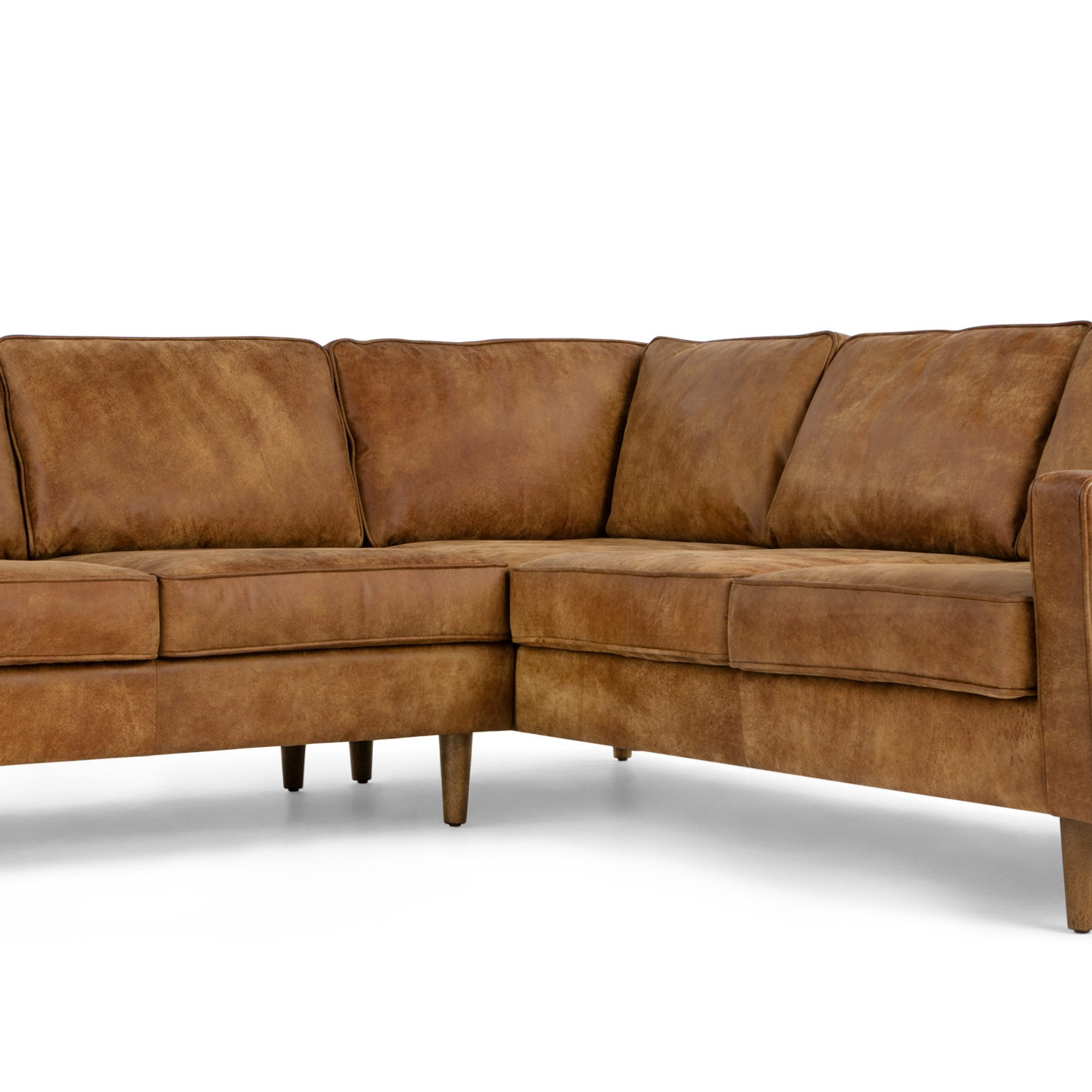 Dallas Corner Sofa, Outback Tan Premium Leather   Made Intended For Leather Corner Sofas (View 14 of 15)