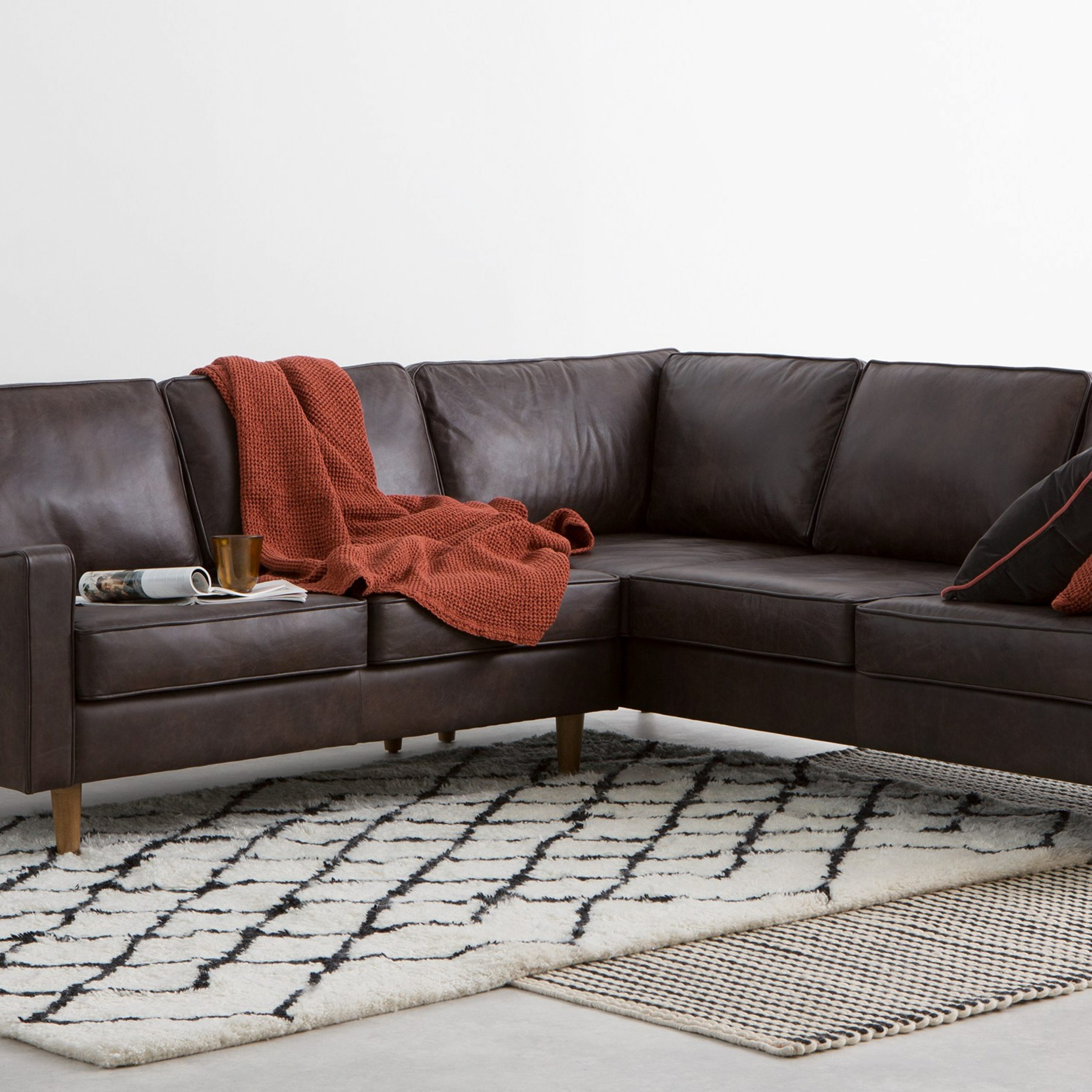 Dallas Corner Sofa, Oxford Brown Premium Leather   Made Within Oxford Sofas (View 1 of 15)