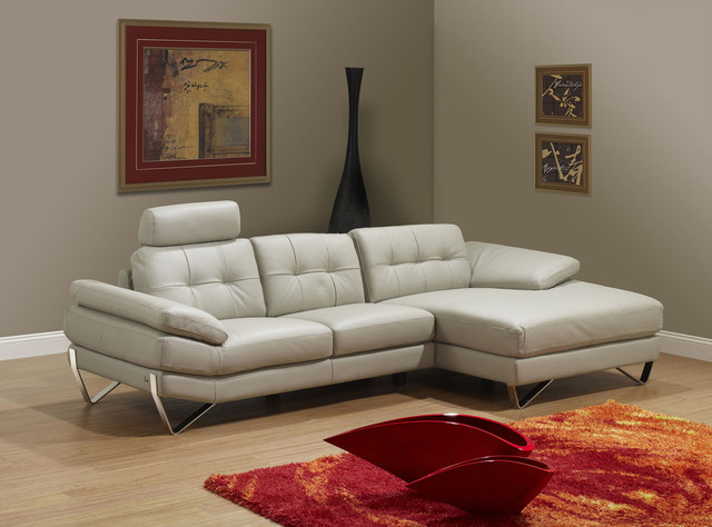Dallas Light Grey Right Sectional Sofa – Modern With Ludovic Contemporary Sofas Light Gray (View 6 of 15)