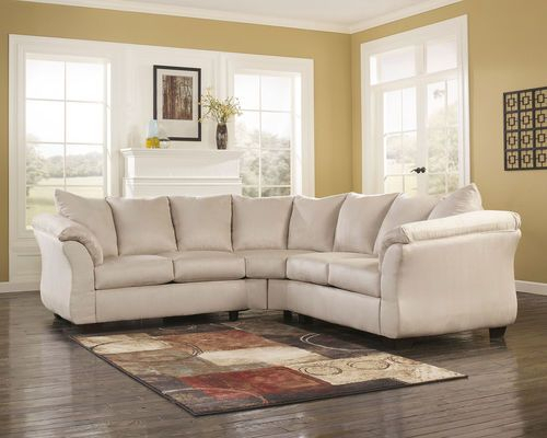 Darcy Stone Left Arm Facing/Right Arm Facing Loveseat Intended For Dulce Right Sectional Sofas Twill Stone (View 11 of 15)