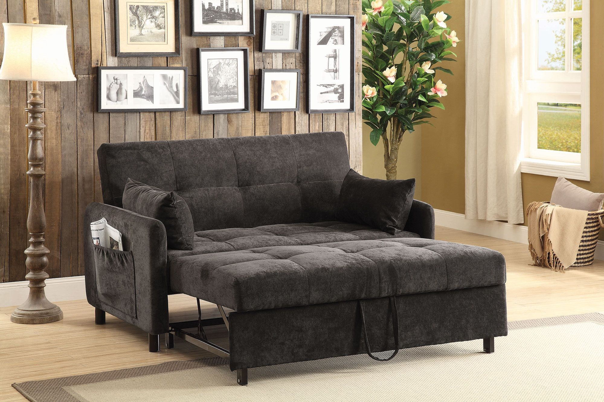 Dark Brown Sofa Bed From Coaster   Coleman Furniture Throughout Brown Sofa Chairs (View 11 of 15)