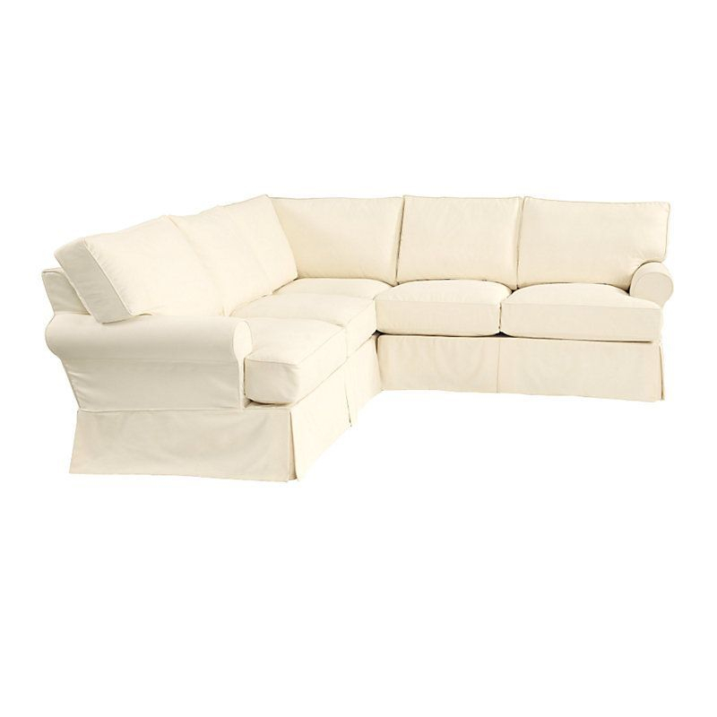 Davenport 3 Piece Sectional Slipcover Only – Stocked (With Throughout 3 Piece Sectional Sofa Slipcovers (View 11 of 15)