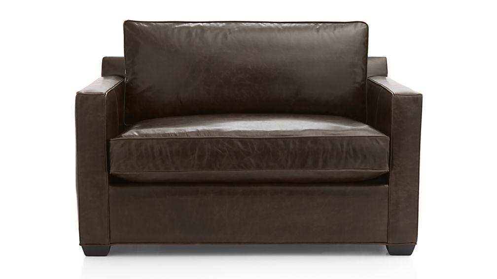 Davis Leather Twin Sleeper Sofa | Chair And A Half, Twin Pertaining To Twin Sofa Chairs (View 12 of 15)