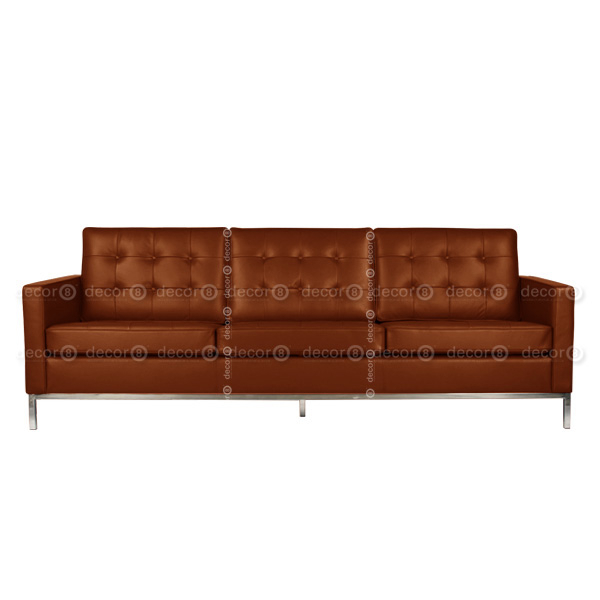 Decor8 Modern Furniture Florence Leather 3 Seat Sofa For Florence Leather Sofas (View 9 of 15)