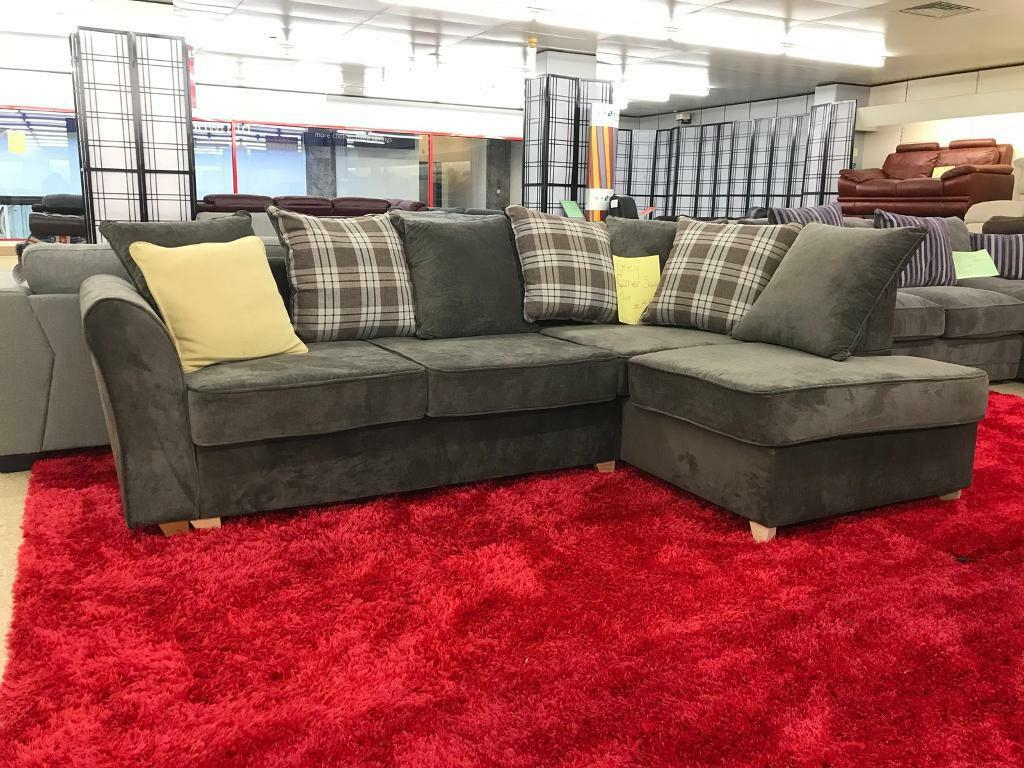 Designer Grey/Charcoal Grey Corner Sofa | In Nelson Pertaining To Charcoal Grey Sofas (View 1 of 15)