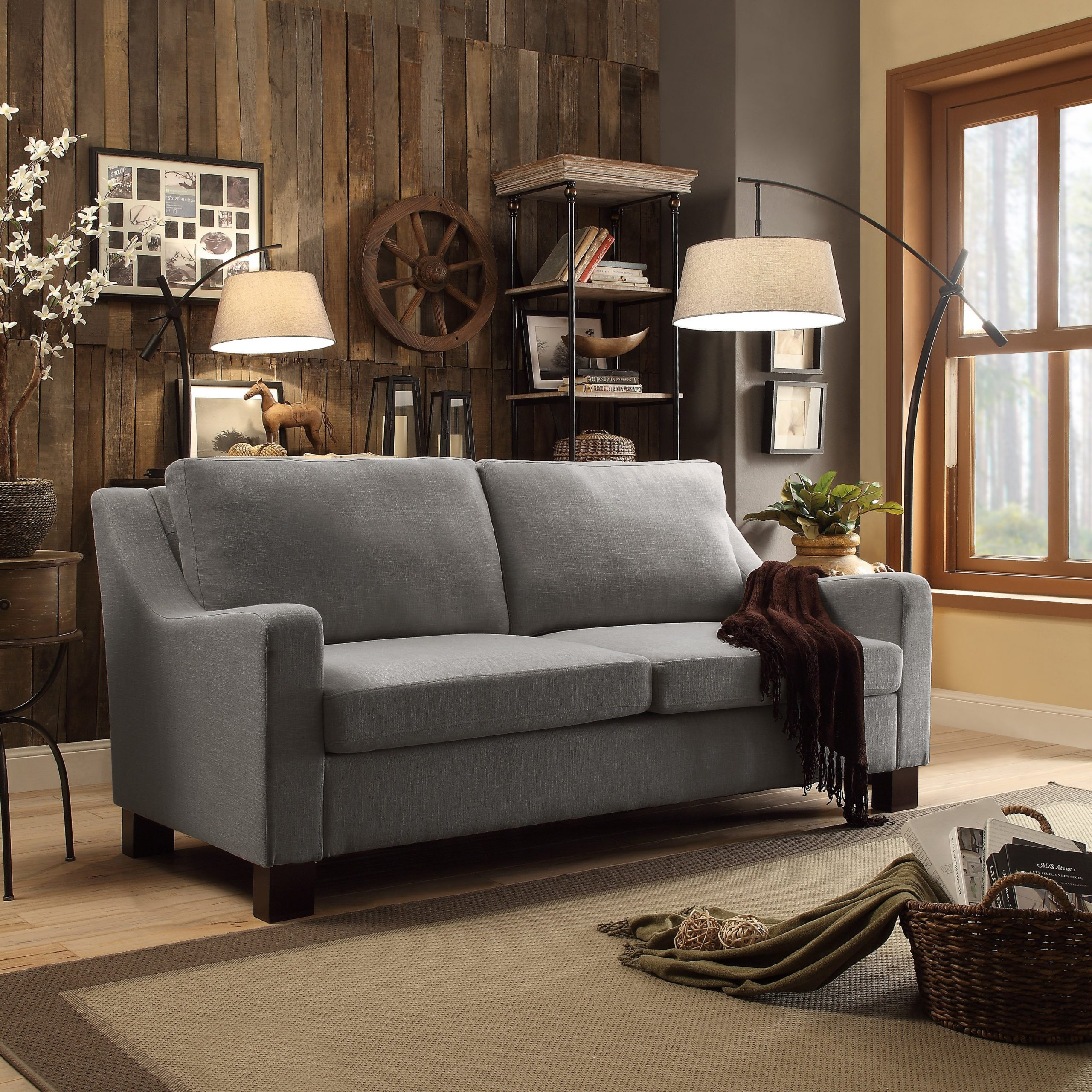 Dg Casa Madison Grey Sofa (Sofa), Gray   Sofa, Sofa Within Laurel Gray Sofas (View 7 of 15)