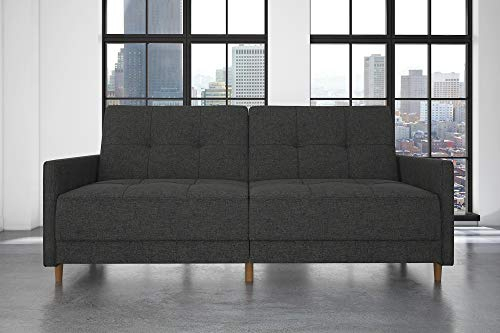 Dhp Andora Coil Futon Sofa Bed Couch With Mid Century With Regard To Debbie Coil Sectional Futon Sofas (Photo 5 of 15)