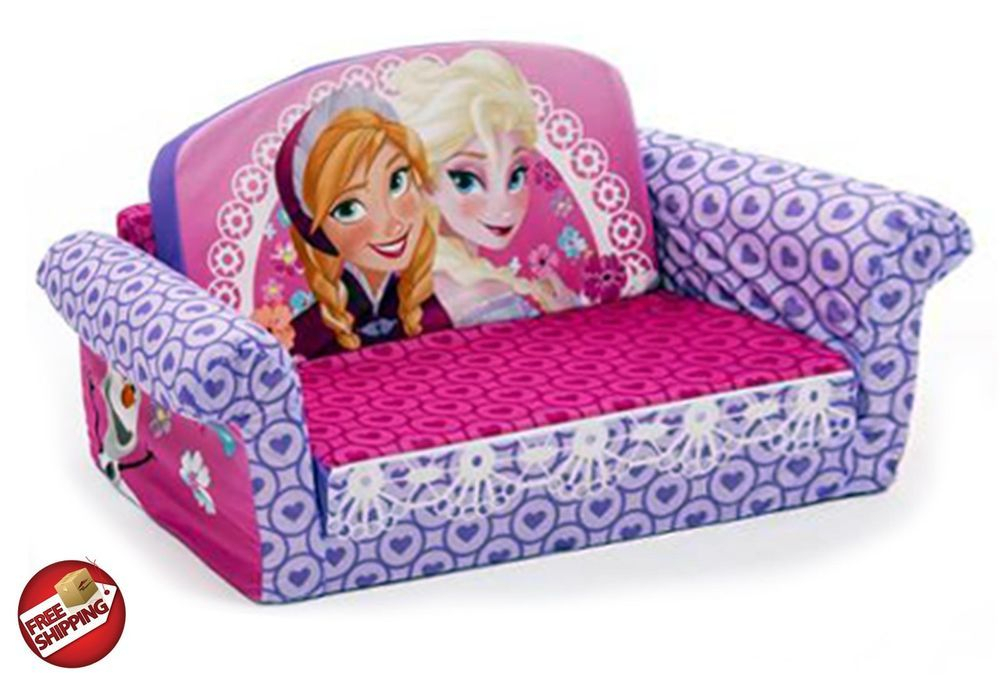 Disney Frozen Flip Open Kids Sofa Toddler Couch Furniture Within Disney Sofa Chairs (View 3 of 15)