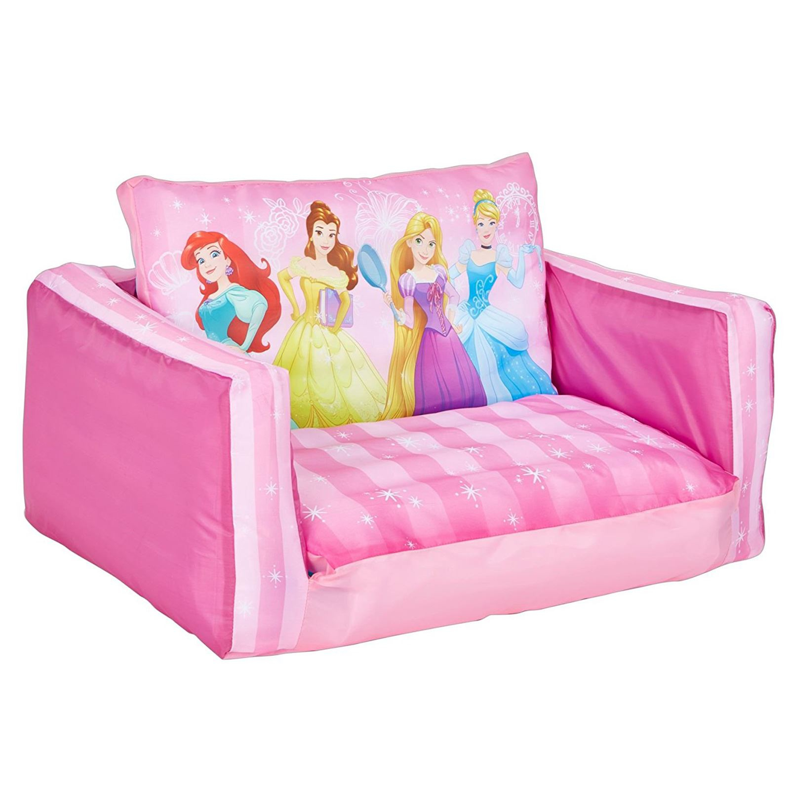 Disney Princess Flip Out Sofa Kids Inflatable Belle In Disney Sofa Chairs (View 7 of 15)