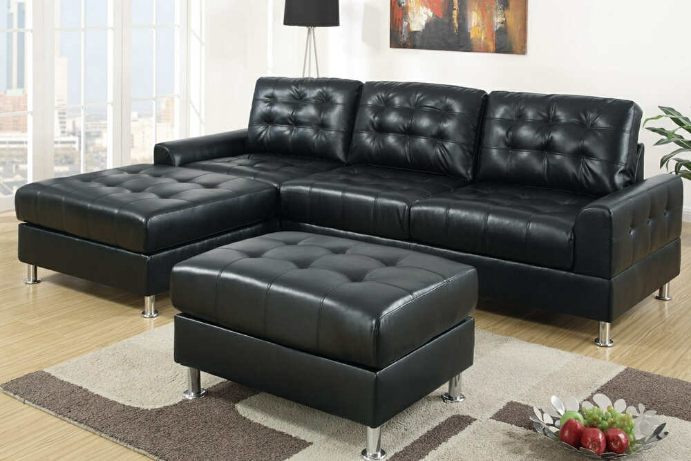 Double Chaise Sectional Sofas: Type And Finishing – Homesfeed Regarding Felton Modern Style Pullout Sleeper Sofas Black (View 11 of 15)