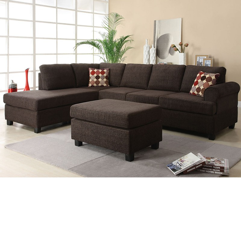 Dreamfurniture – 50540 Donovan Butler Onyx Morgan With Copenhagen Reversible Small Space Sectional Sofas With Storage (View 7 of 15)