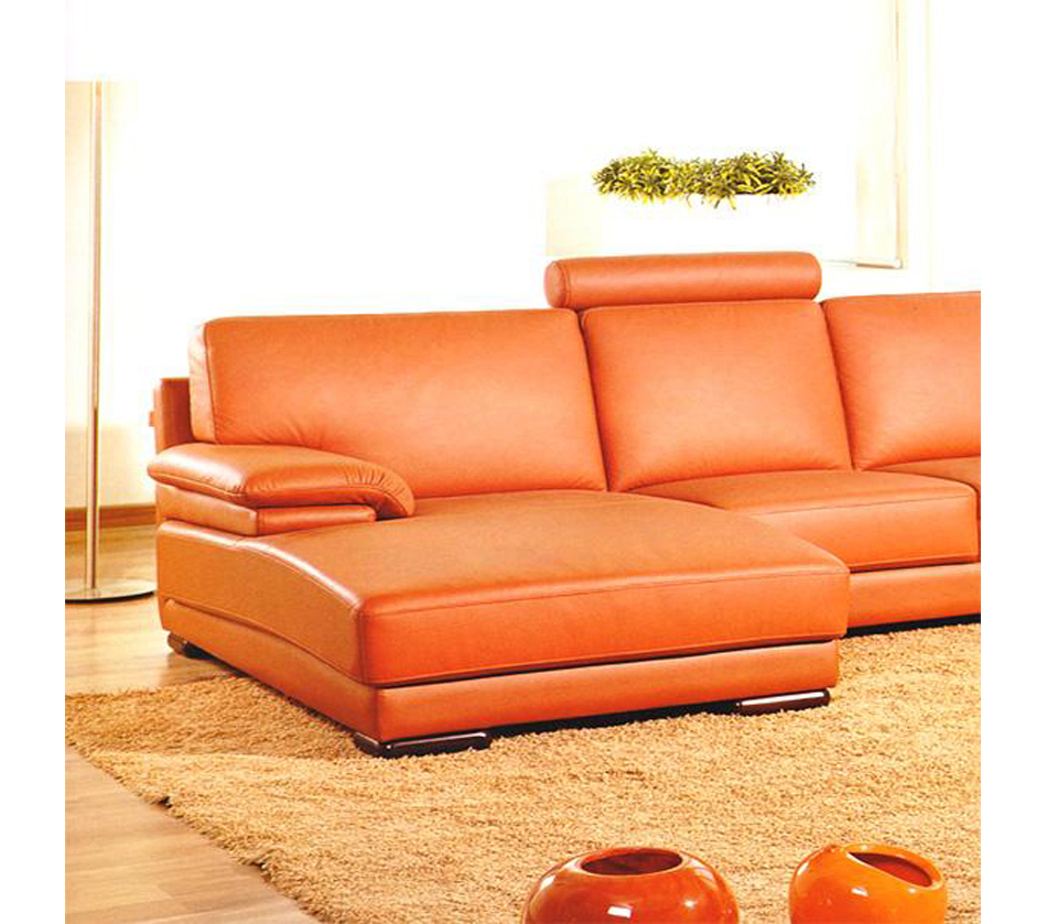 Dreamfurniture – Divani Casa 2227 – Modern Leather Regarding Contemporary Sofas And Chairs (View 9 of 15)