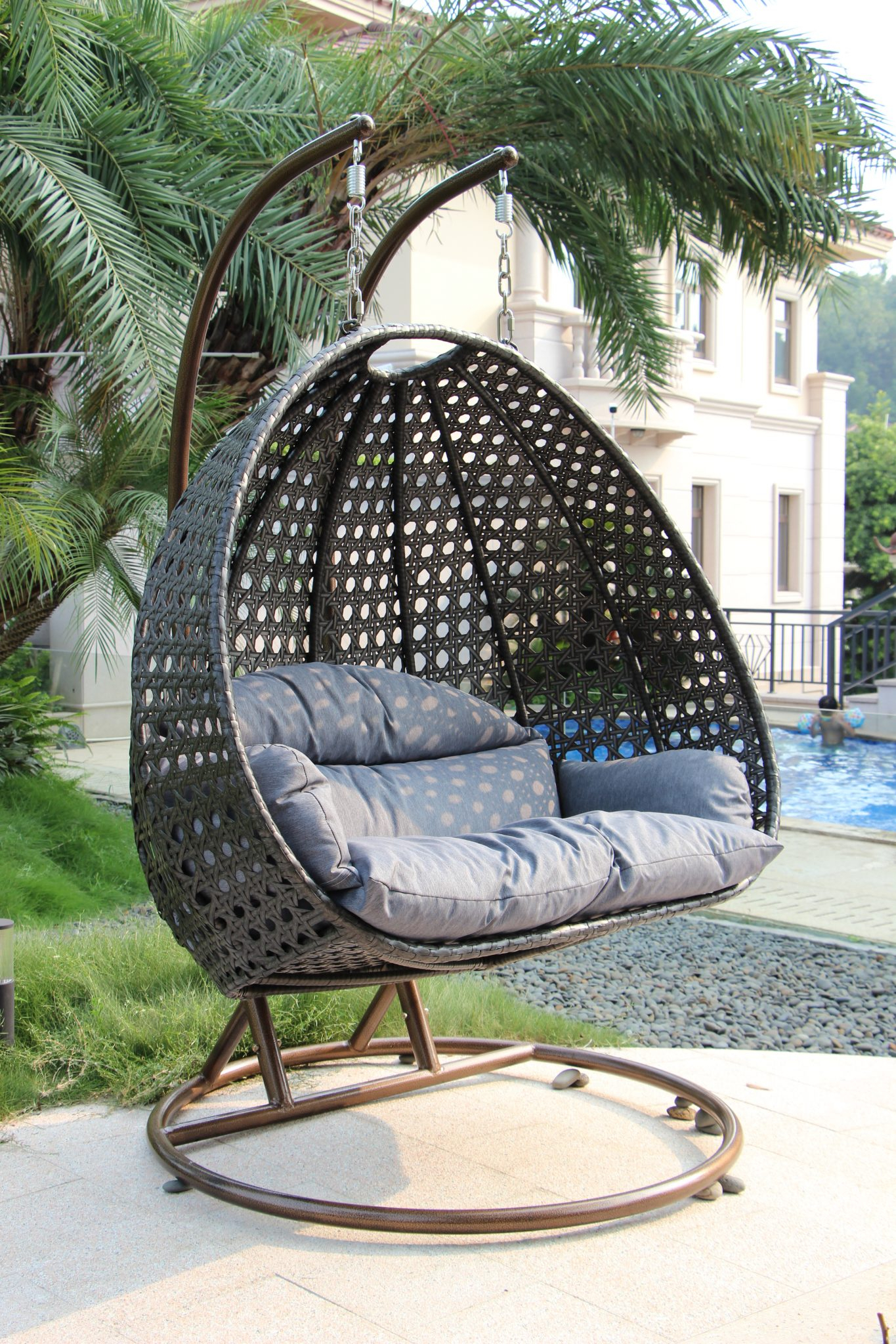 """""""Dubai"""" Double Egg Chair – Outdoor Furniture Factory Within Outdoor Sofas And Chairs (View 10 of 15)"""