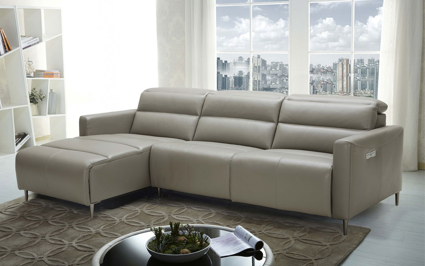 Dylan Left Chaise Sectional Jm Furniture | Furniture Cart Regarding Copenhagen Reclining Sectional Sofas With Left Storage Chaise (View 5 of 15)