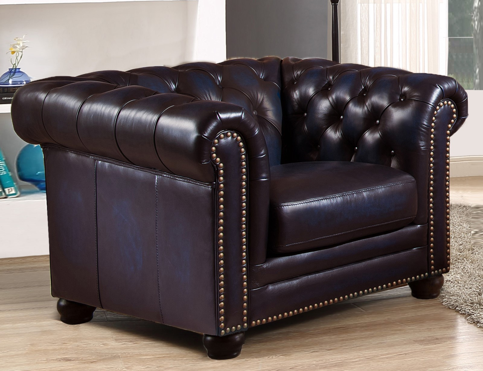 Dynasty 100% Genuine Leather Chesterfield Sofa & Two Within Leather Chesterfield Sofas (View 4 of 15)