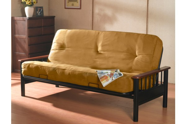 Dynasty Futon With Orthopedic Pocket Coil Mattress Inside Debbie Coil Sectional Futon Sofas (Photo 7 of 15)