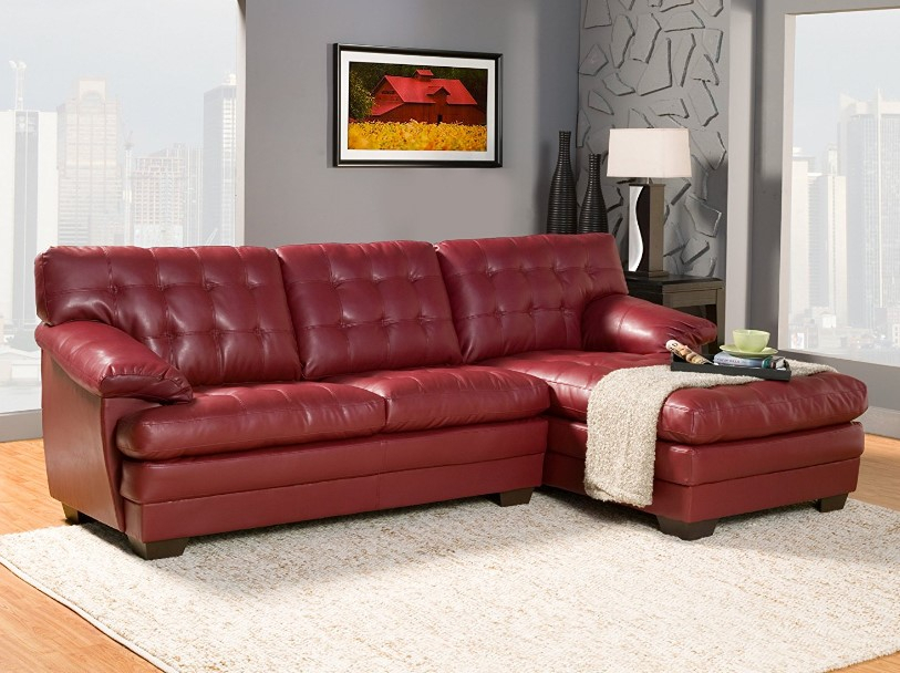 ⭐️ 7 Best Red Leather Sofa Reviews In 2017 ⋆ Best Cheap Throughout Red Sofas (View 11 of 15)