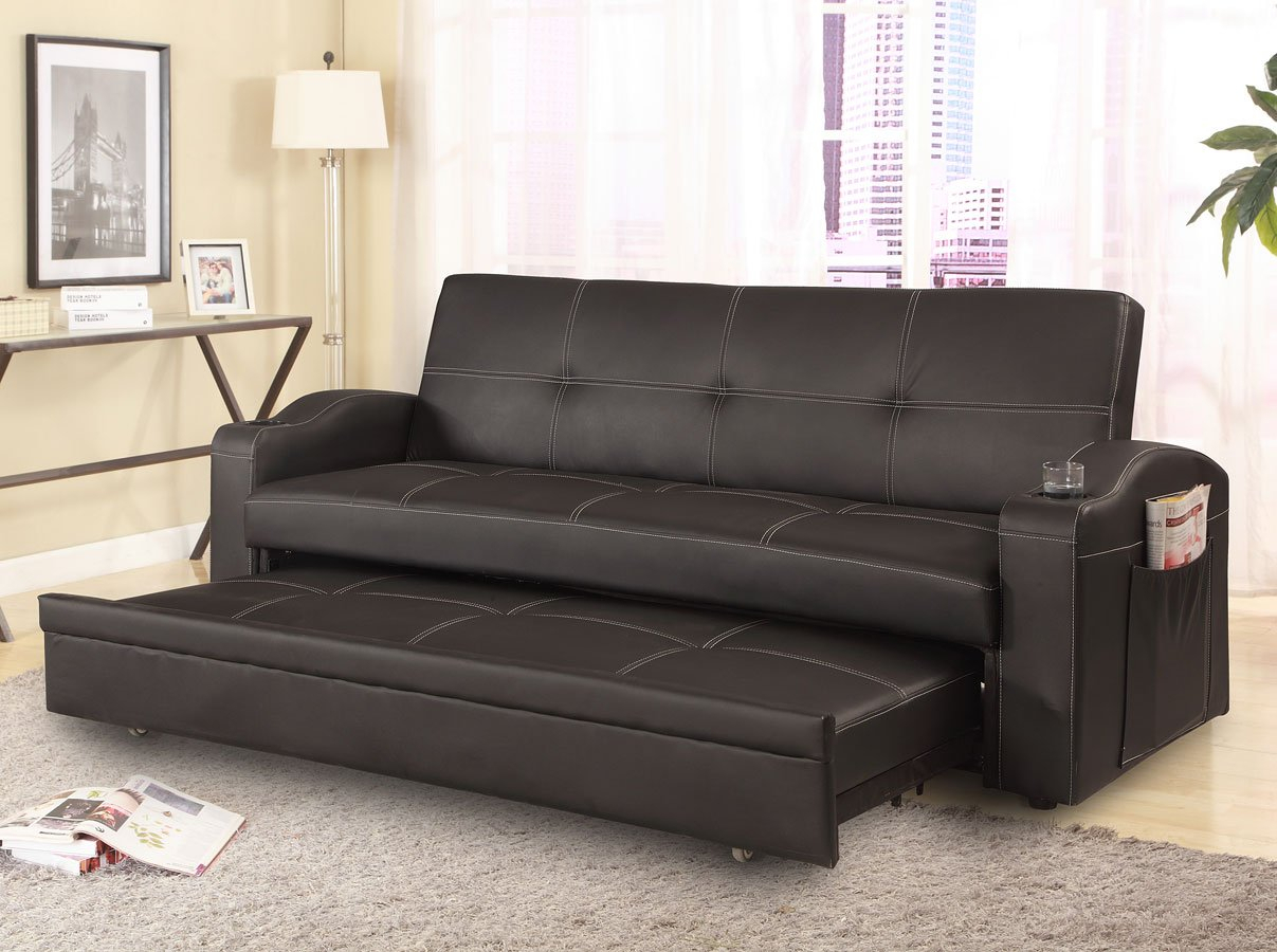 Easton Adjustable Sofa Bed Crown Mark Furniture With Regard To Easton Small Space Sectional Futon Sofas (View 6 of 15)