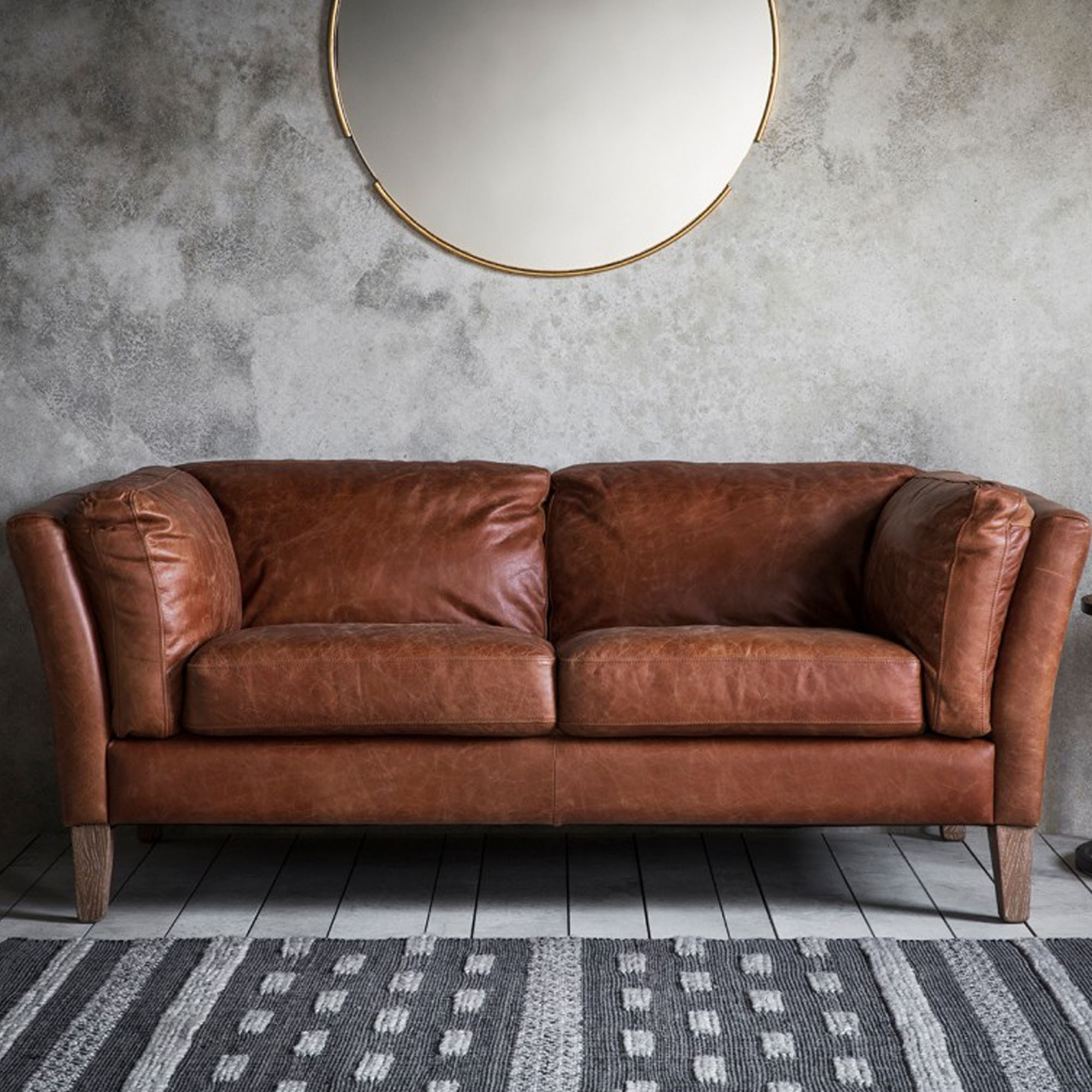 Ebury 2 Seater Sofa | Brown 2 Seater Sofas | Brown Leather For Two Seater Sofas (View 2 of 15)