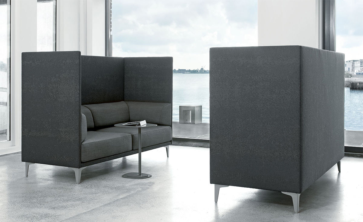 Ej400 Apoluna Box High Back 2 Seat Sofa – Hivemodern Intended For Sofas With High Backs (View 2 of 15)