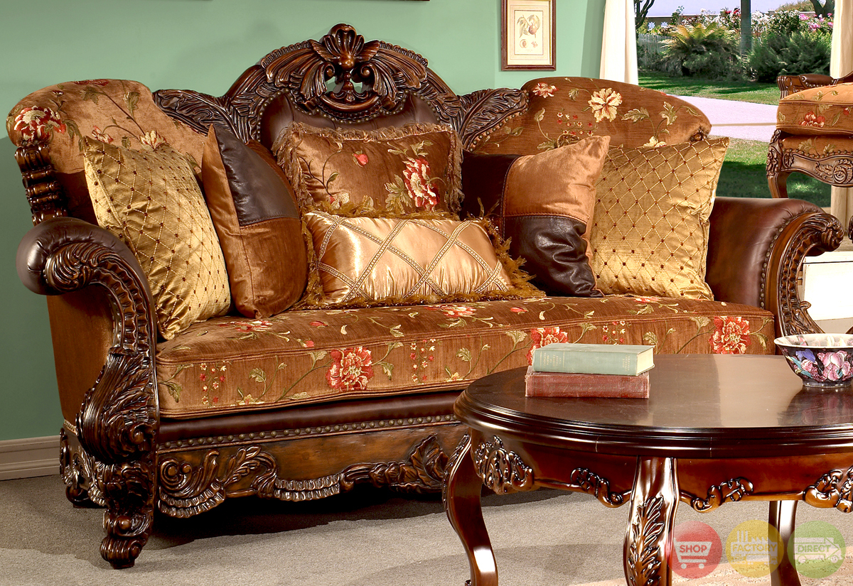 Elegant European Antique Style Living Room Furniture With Old Fashioned Sofas (View 4 of 15)
