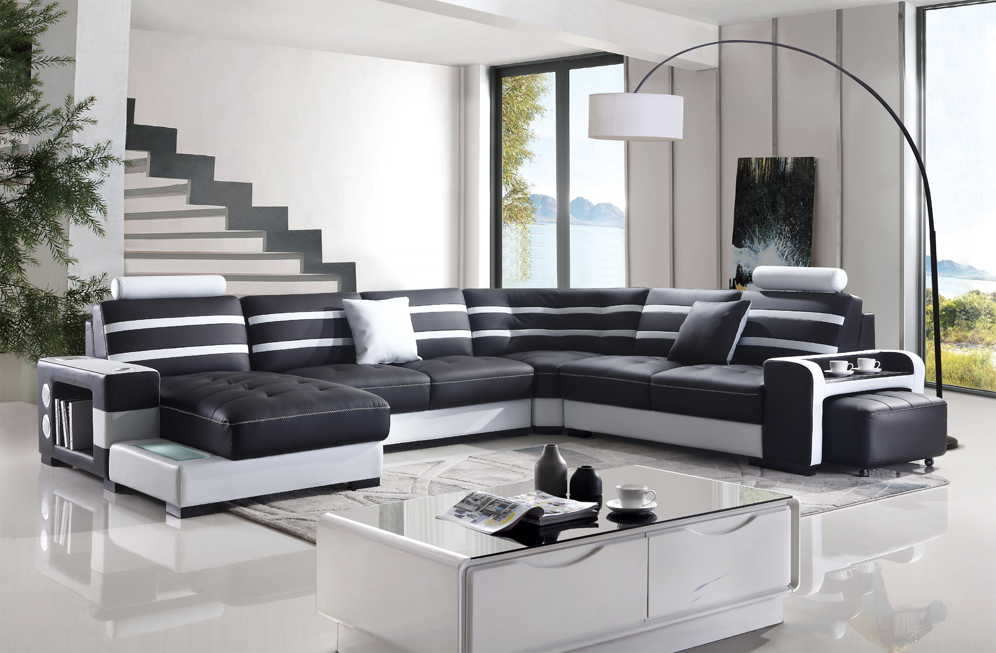 Elegant Multi Functional Corner Sofa – Joy Furniture Intended For Sofas And Chairs (View 5 of 15)