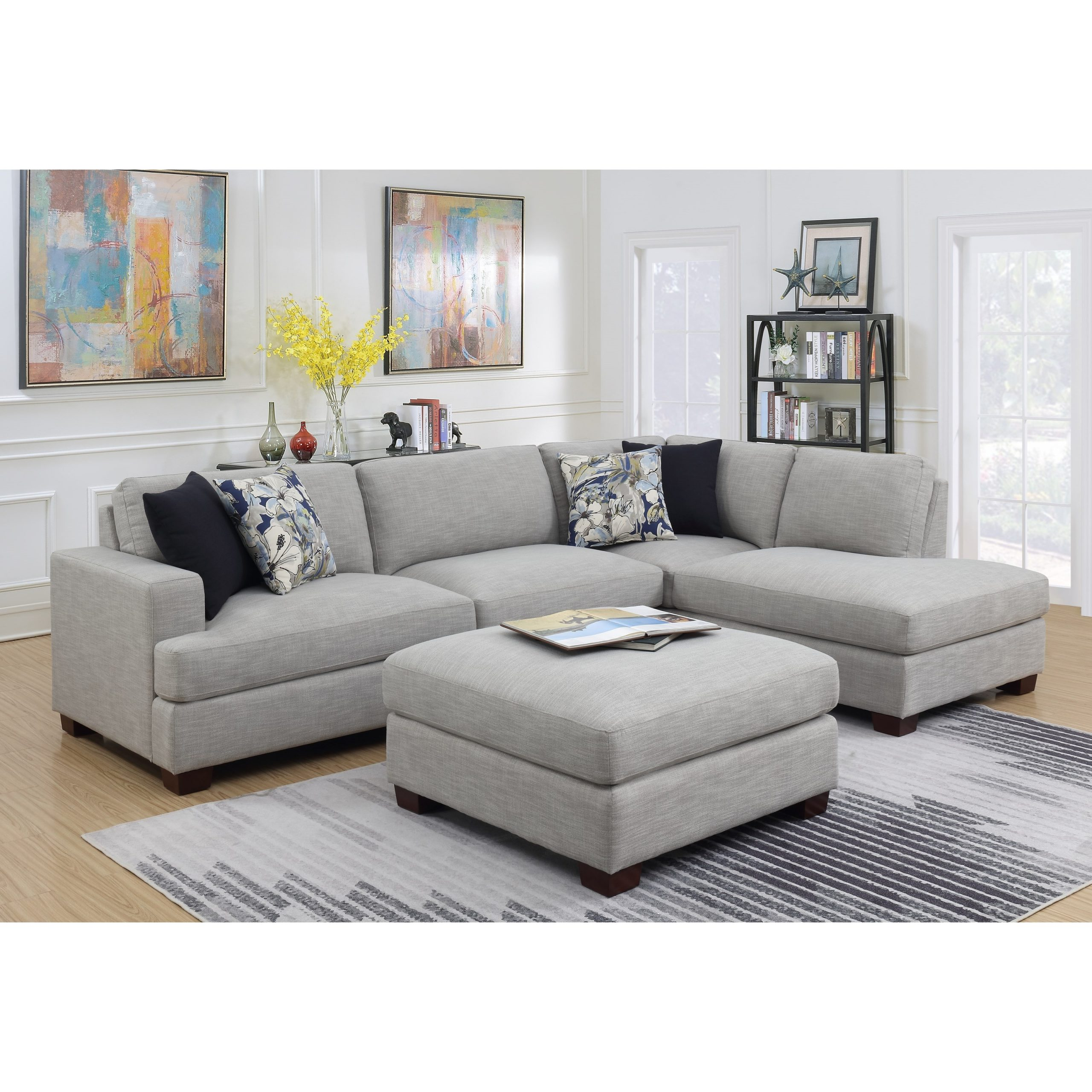 Emerald Vernon Contemporary 2 Piece Sectional Sofa With Throughout 2Pc Connel Modern Chaise Sectional Sofas Black (View 1 of 15)