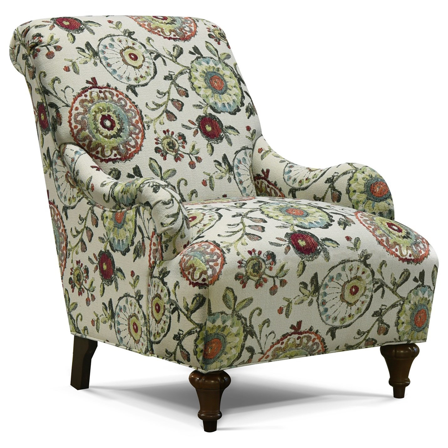 England Kelsey 8834 Cottage Accent Chair With Traditional In Cottage Style Sofas And Chairs (View 7 of 15)