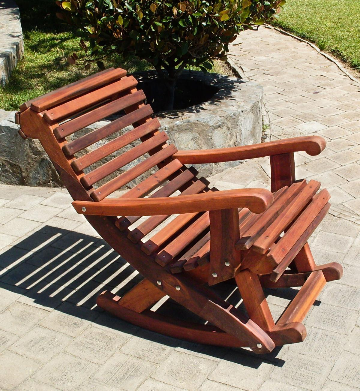 Ensenada Wooden Rocking Chair In Rocking Sofa Chairs (View 6 of 15)