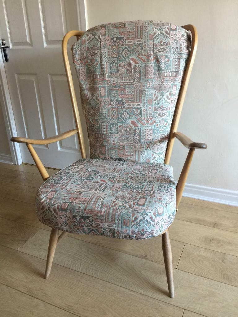 Ercol 1960S Windsor High Back Easy Chair (View 6 of 15)