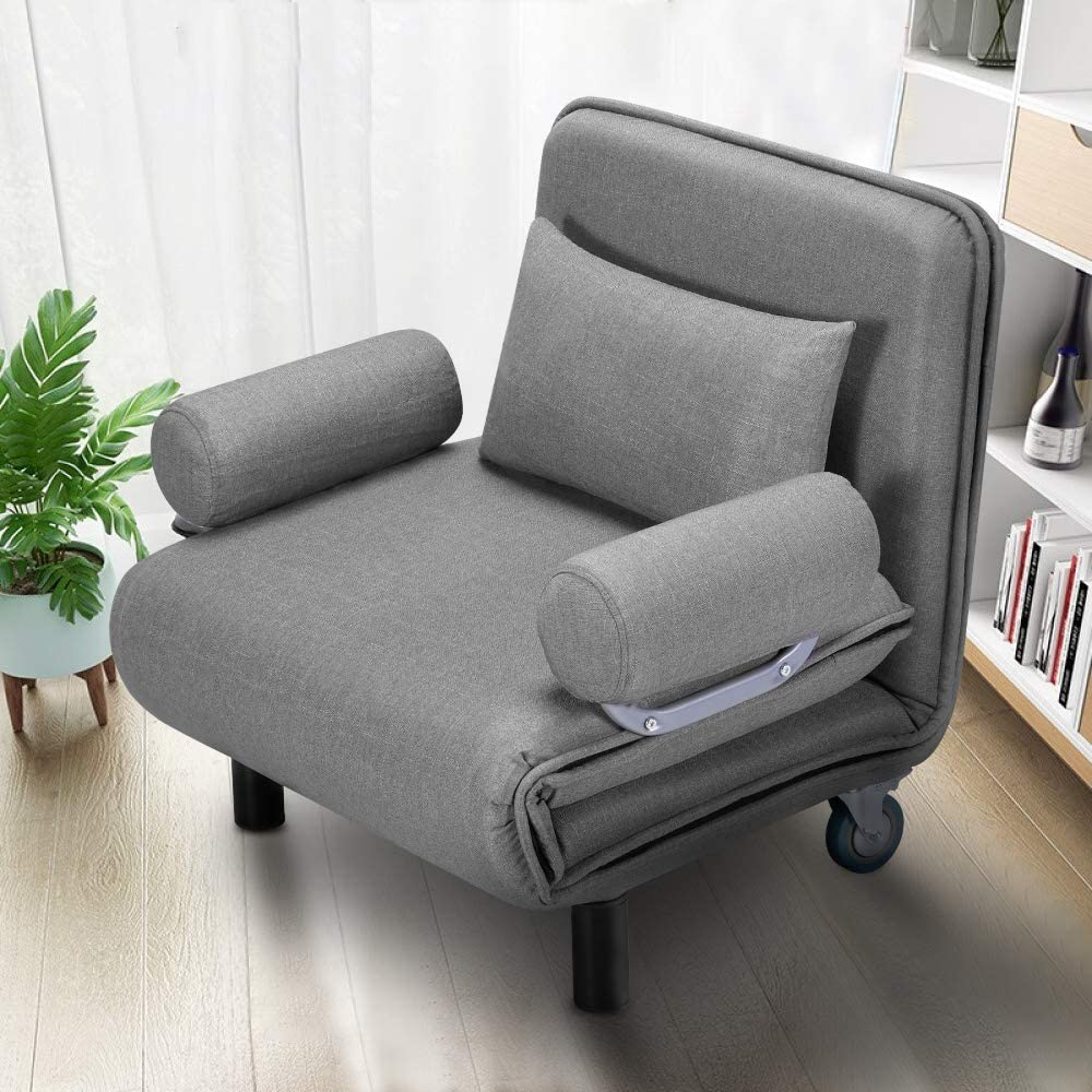 Erommy Convertible Sofa Bed Sleeper Chair Folding 5 Inside Folding Sofa Chairs (View 2 of 15)